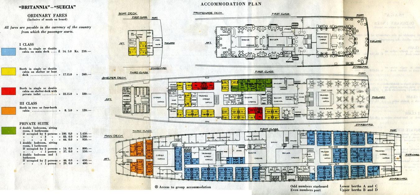 Britannia 1929 1947 Deckplan